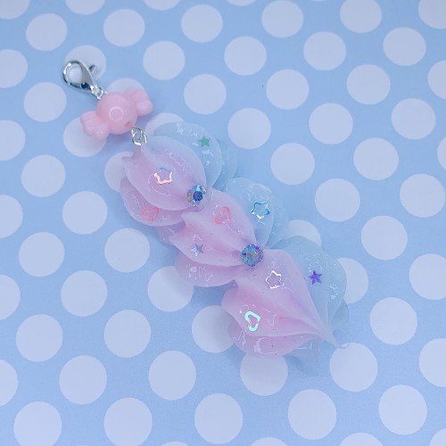 Pink and Blue Whip Charm