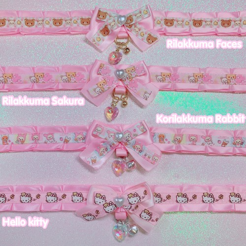Kawaii Pleated Day Collar 12""