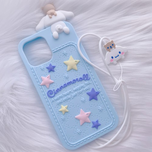 iPhone 12 Pro Max Blue Cinnamoroll Figure Case