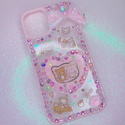 iPhone 12 Mini Rilakkuma Neko Resin Grip Case