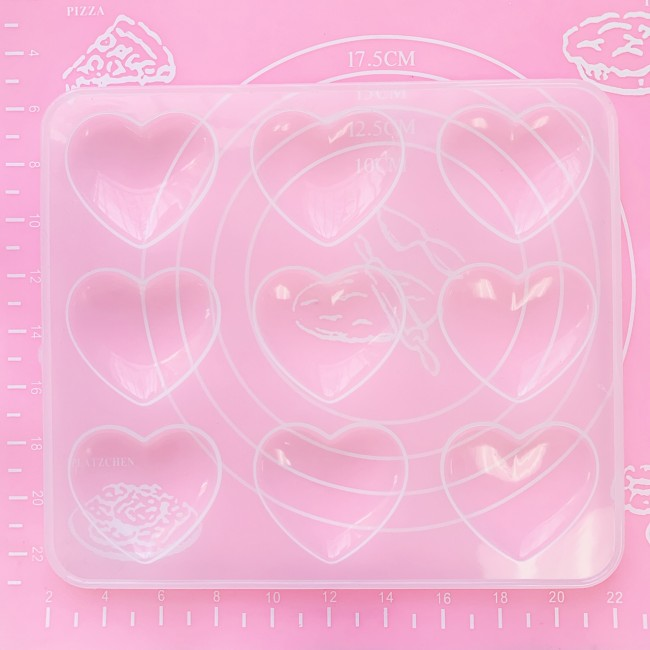 Puffy Hearts Mold (Thin)